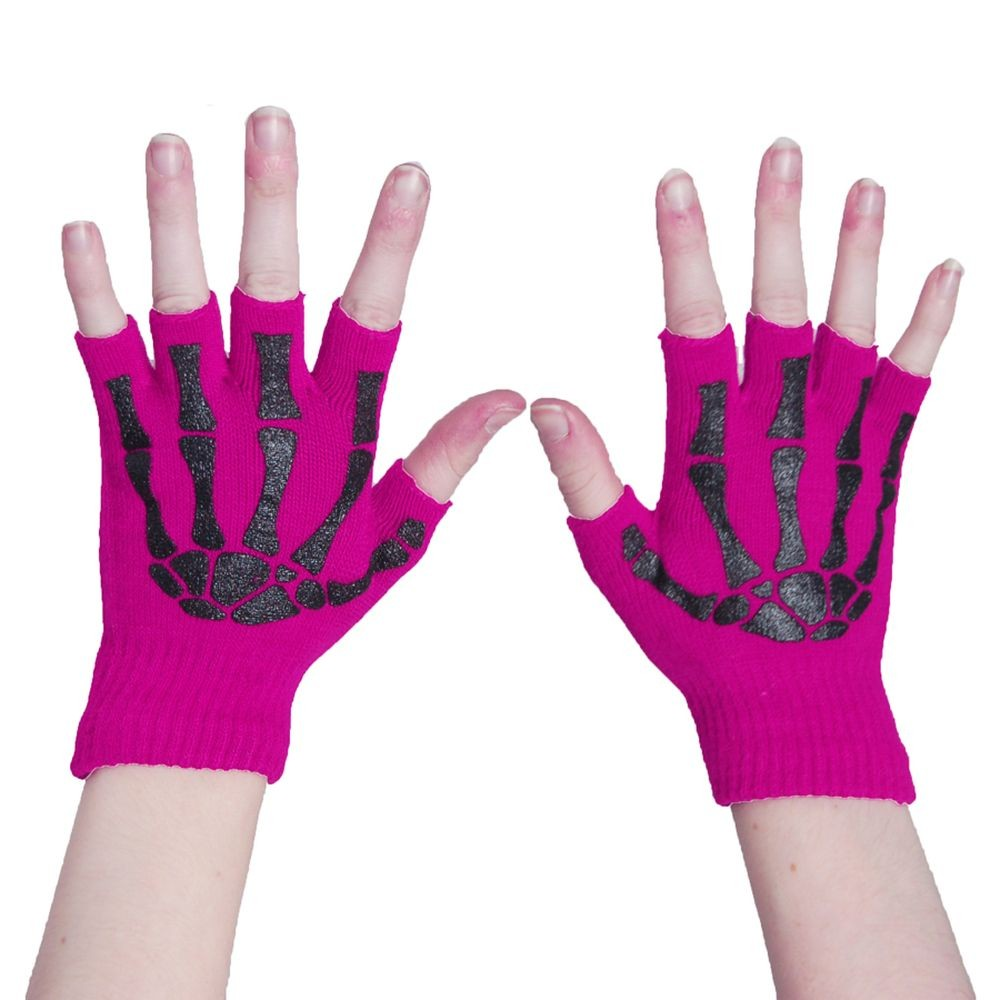 POIZEN INDUSTRIES - BGS FINGERLESS GLOVES LADIES PINK/BLACK