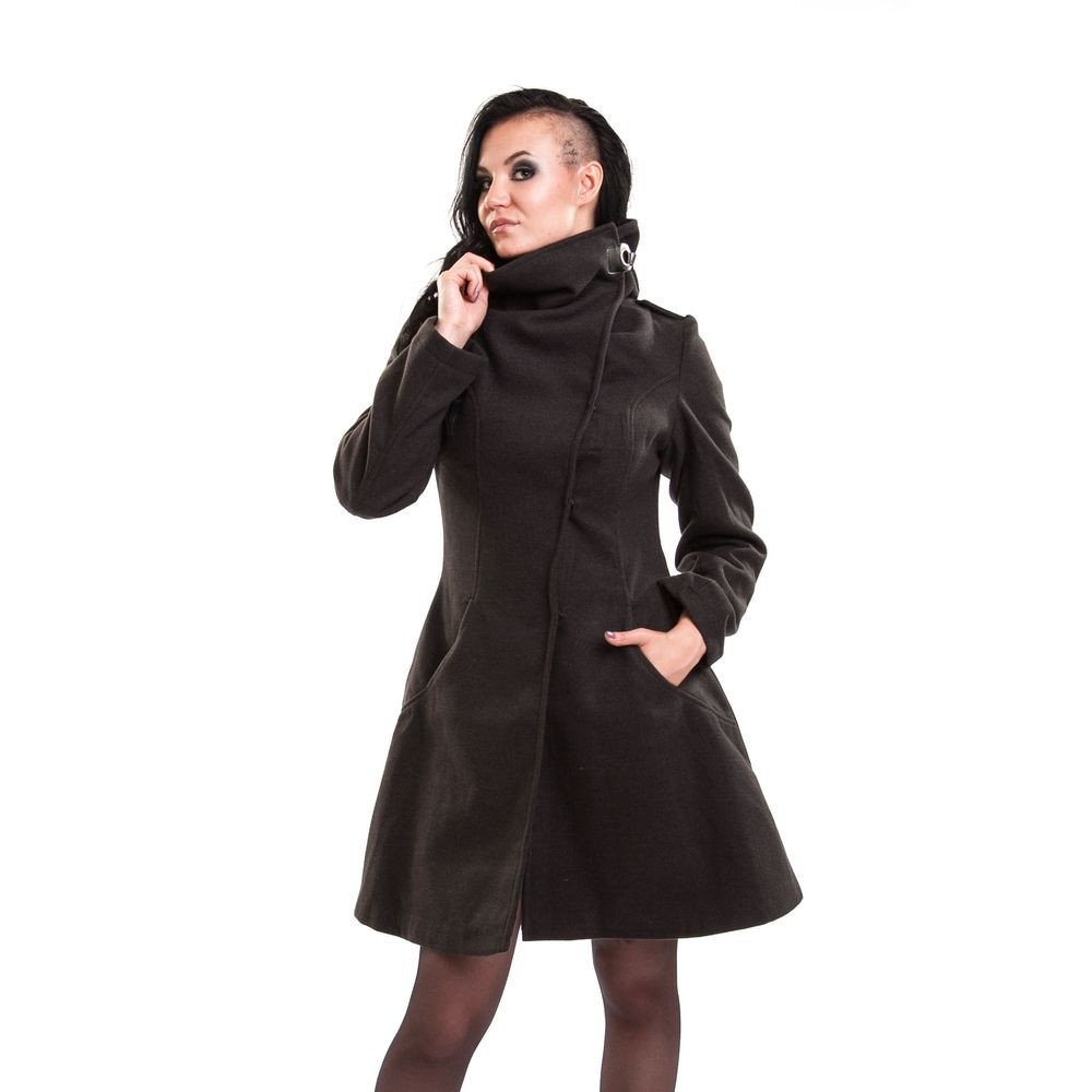 VIXXSIN - NECROMANCER COAT LADIES GREY SIZE S  CLEARANCE