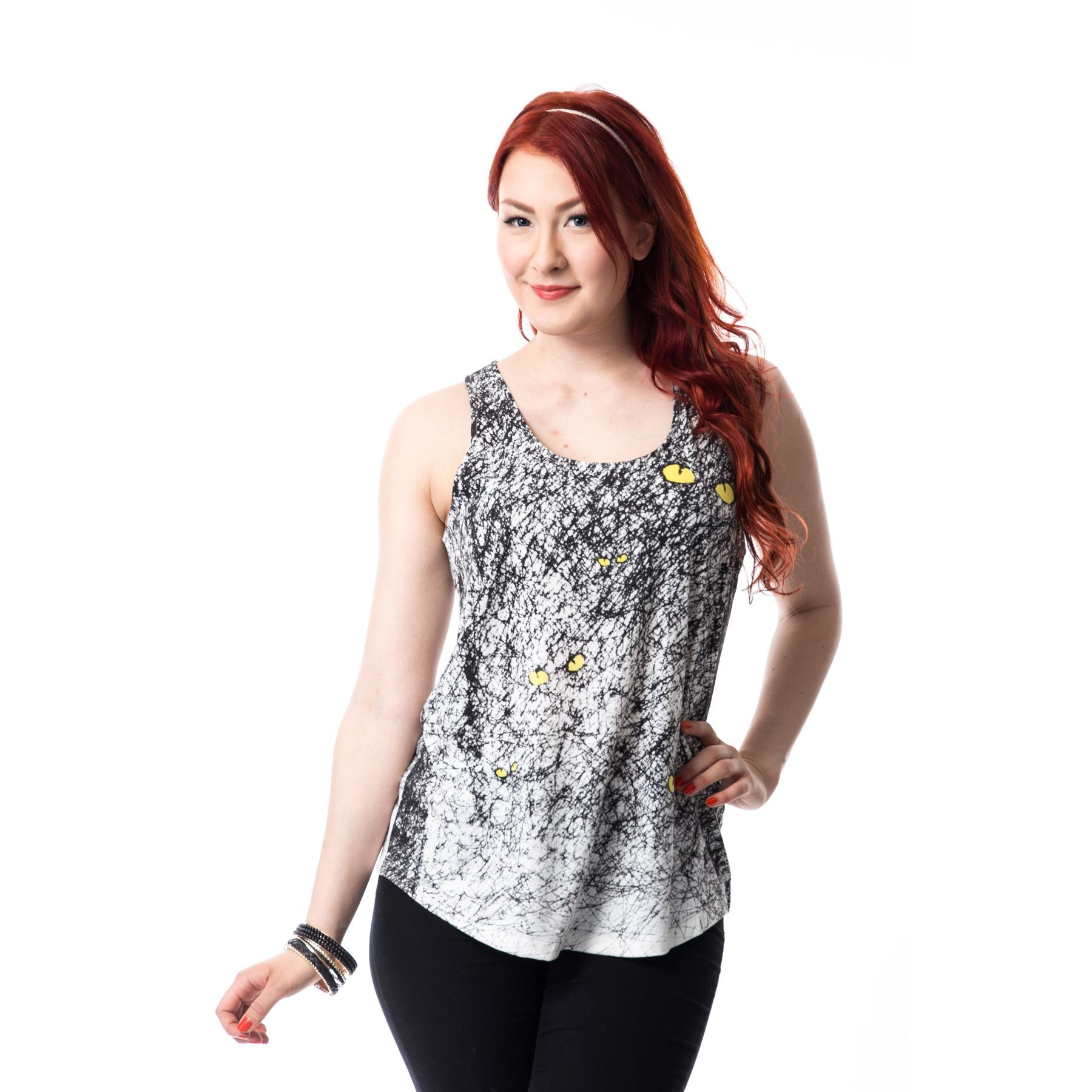 INNOCENT LIFESTYLE - SPOOK VEST LADIES WHITE/BLACK