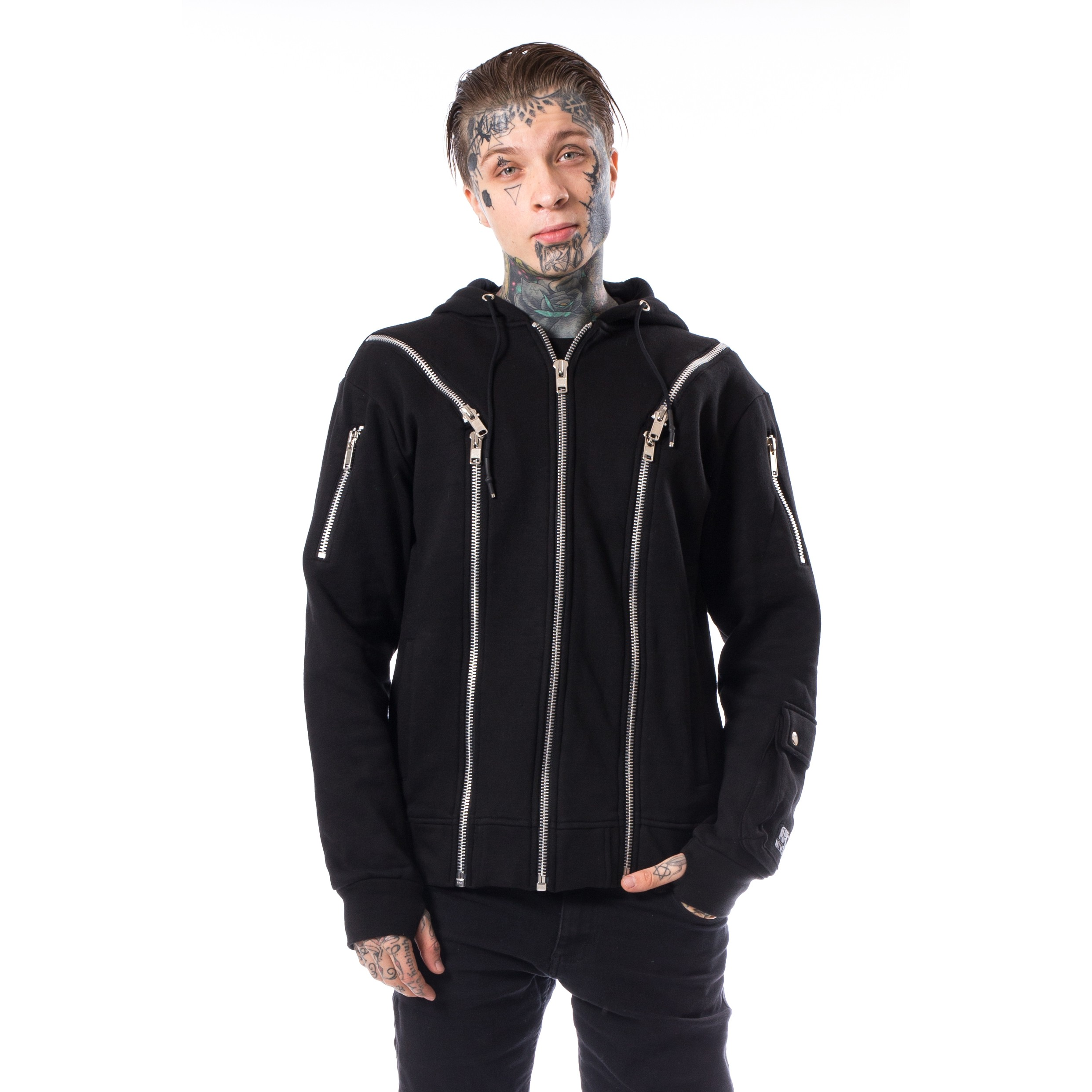 POIZEN INDUSTRIE - Aaro Hood Mens Black *NEW IN-a*