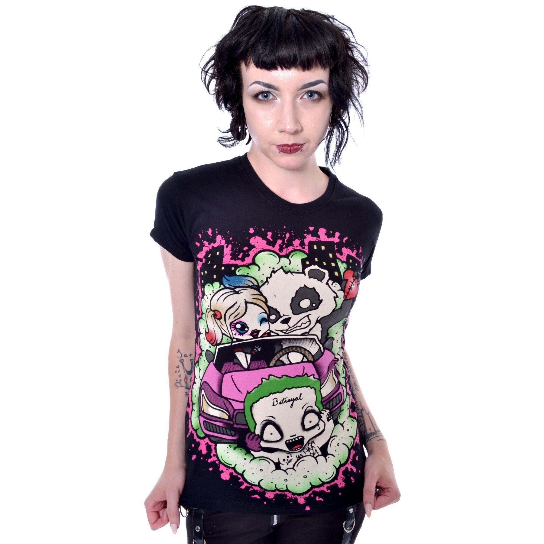 CUPCAKE CULT - BETRAYED T LADIES BLACK SIZE XL