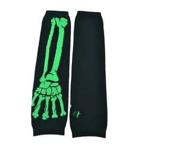 POIZEN INDUSTRIES - BONE ARMWARMERS LADIES BLACK/GREEN