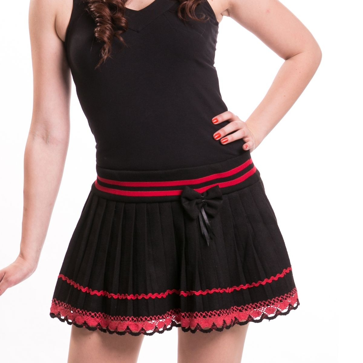 INNOCENT LIFESTYLE - BOW SAILOR MINI LADIES BLACK/RED