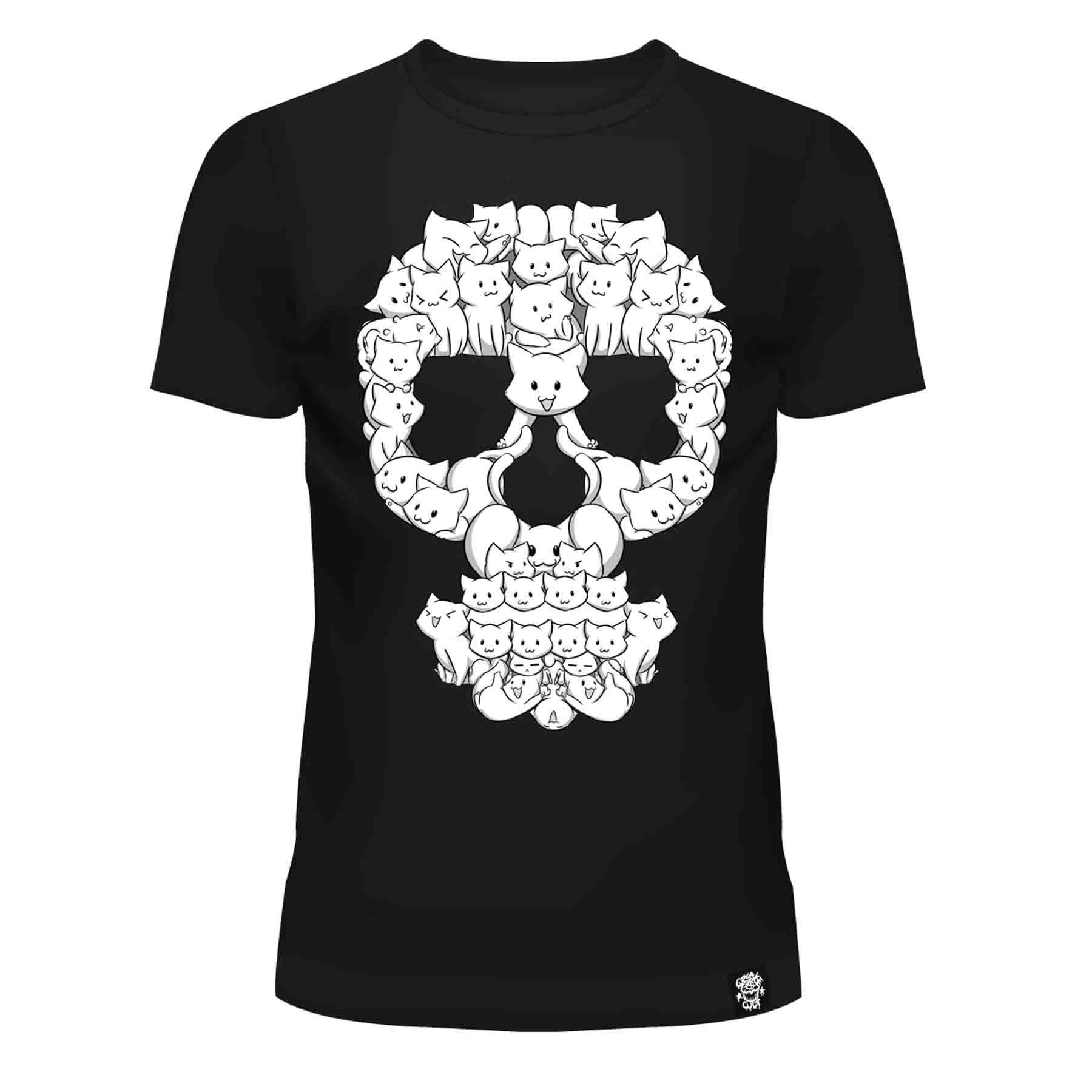 CUPCAKE CULT - Cat Skull T Ladies Black *NEW IN-a*