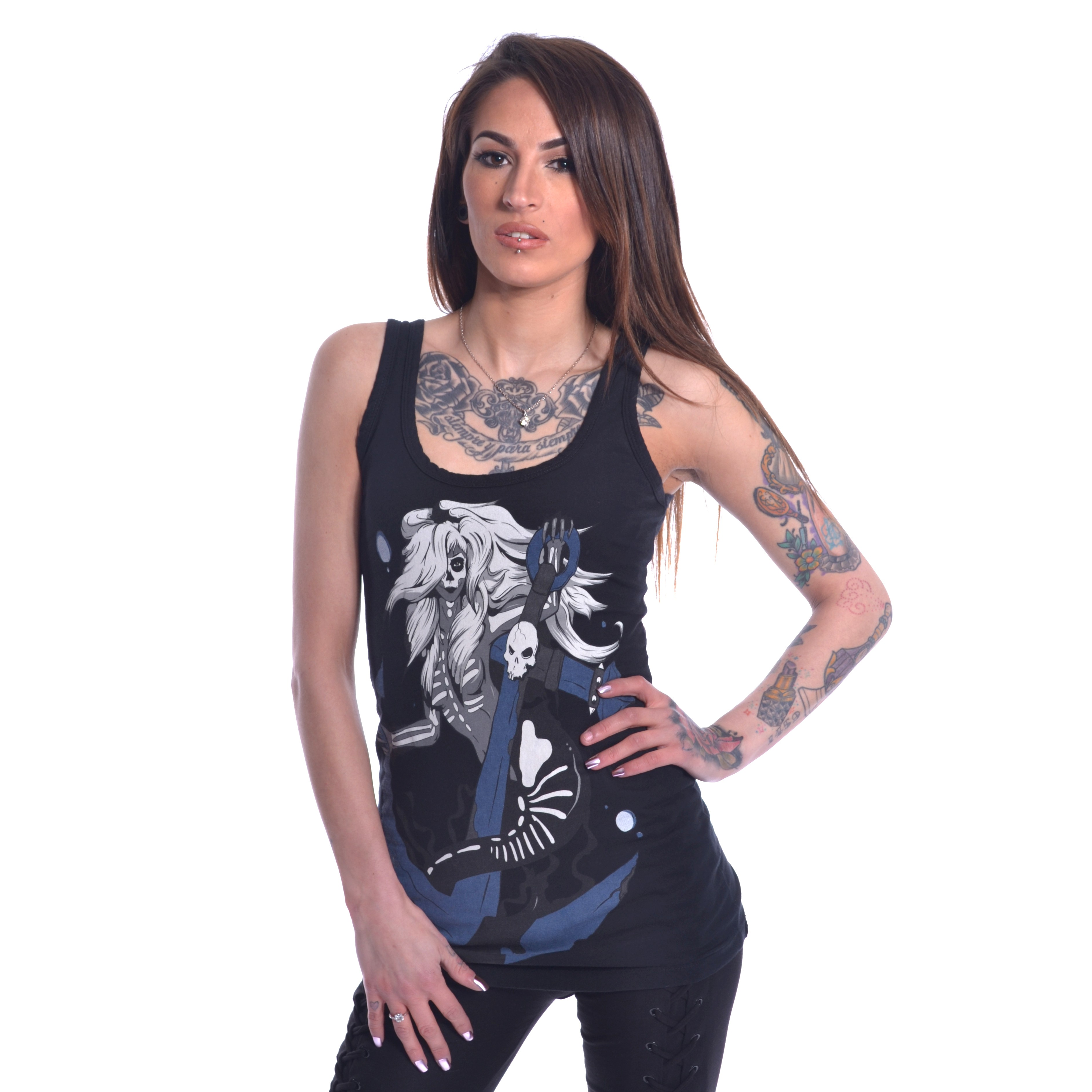 HEARTLESS - Death Mermaid Vest Ladies Black *NEW IN-a*
