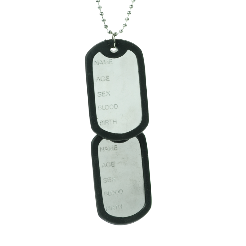 POIZEN INDUSTRIES - DOG TAG P1 NECKLACE LADIES STEEL