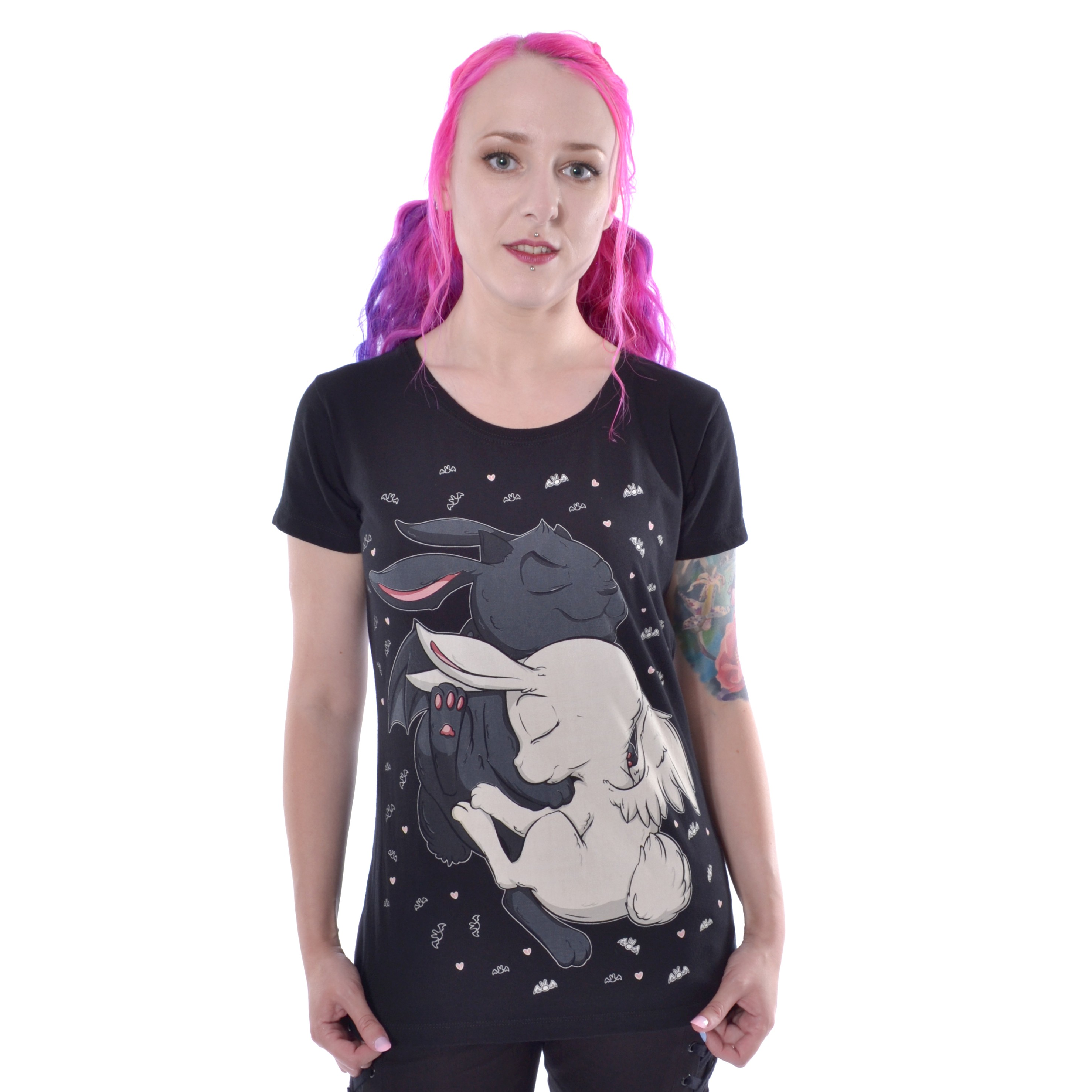 CUPCAKE CULT - Dream Bunny T Ladies Black *a1