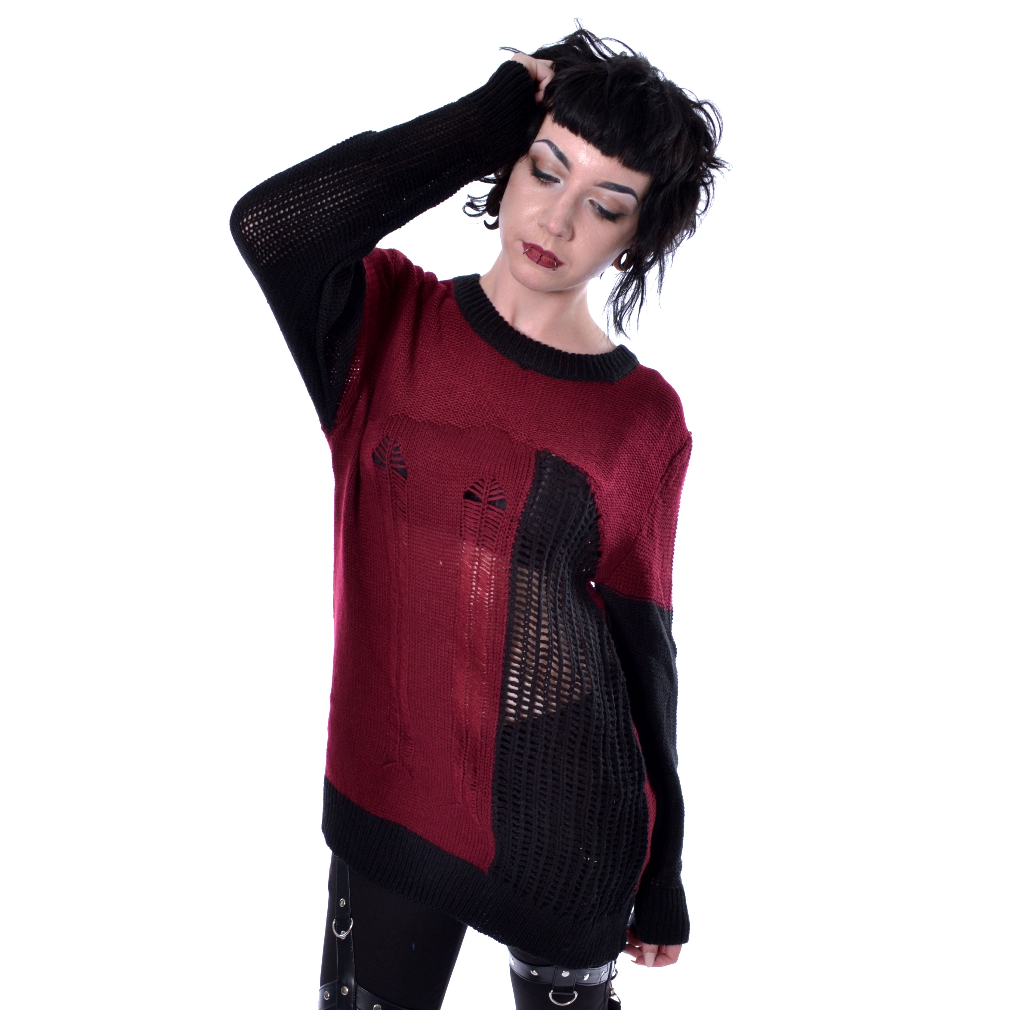 HEARTLESS - Fraction Top Ladies Black/Red *a1
