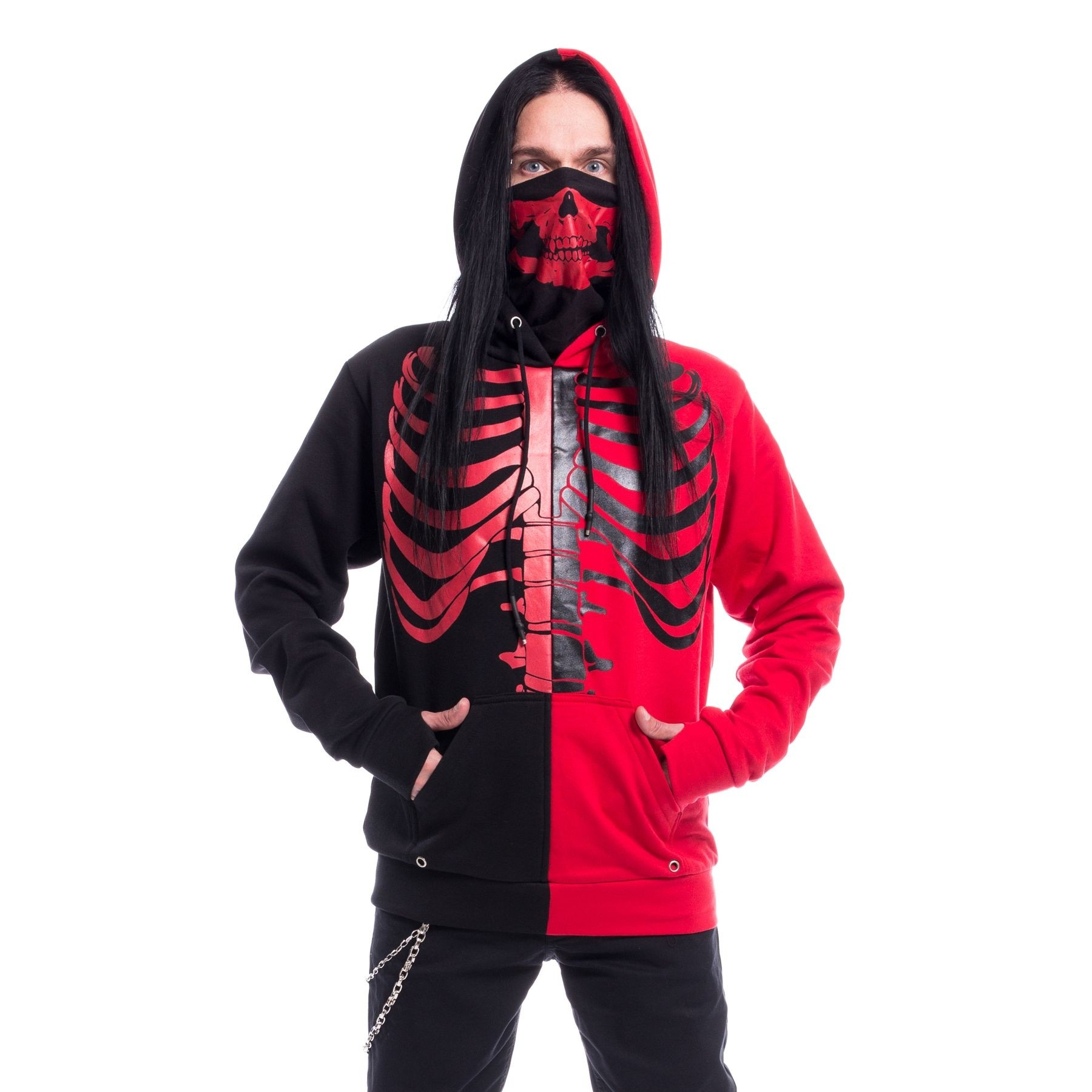 HEARTLESS - Fracture Hood Mens Black/Red *NEW IN*