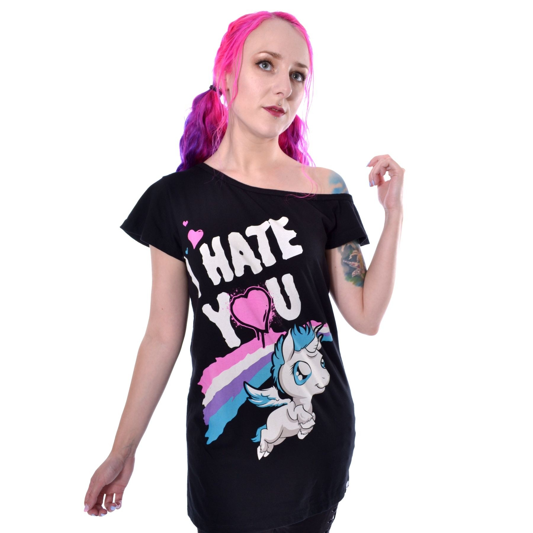 CUPCAKE CULT - Hate You Top Ladies Black *a1
