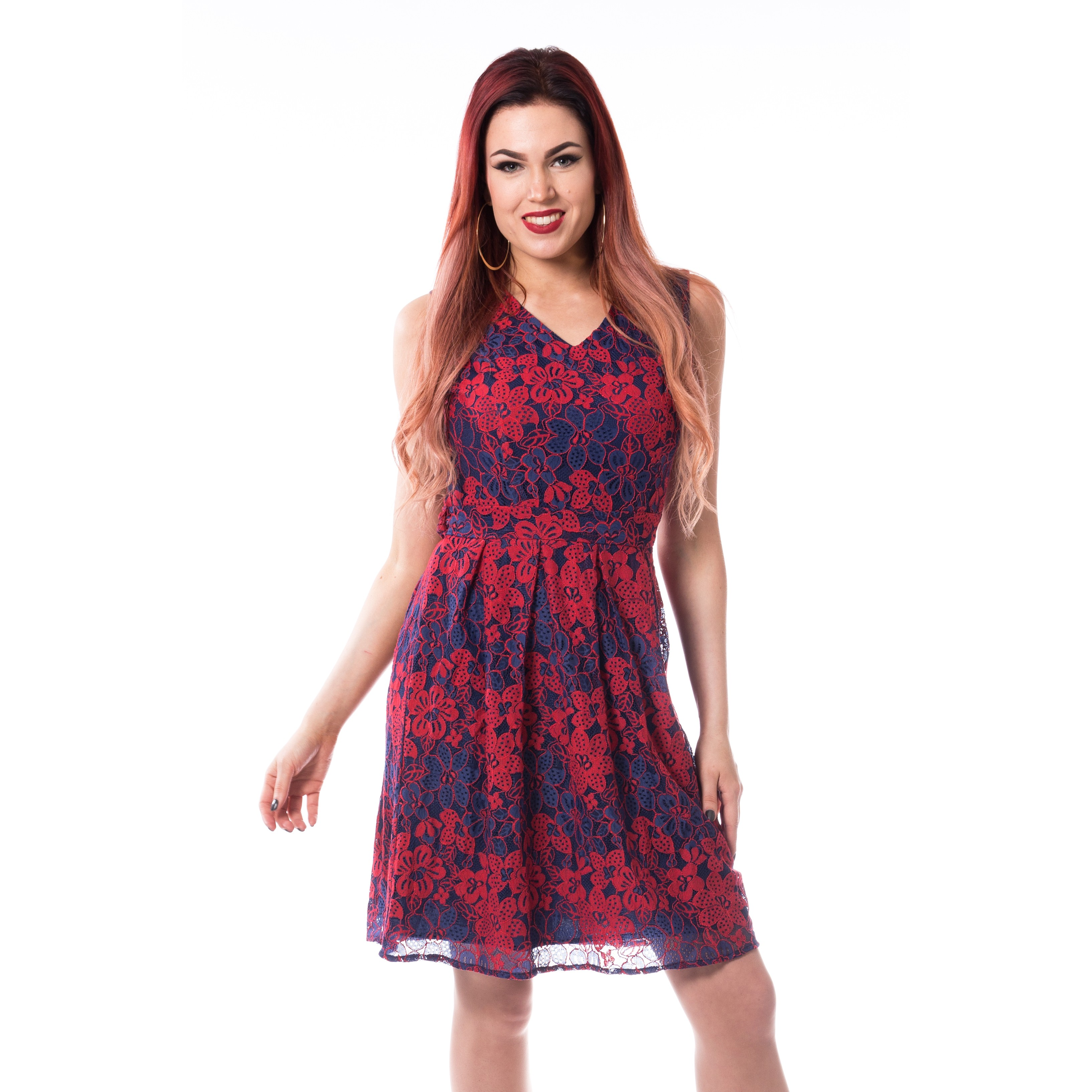 INNOCENT LIFESTY - Helmi Dress Ladies Red/Blue *NEW IN-a*