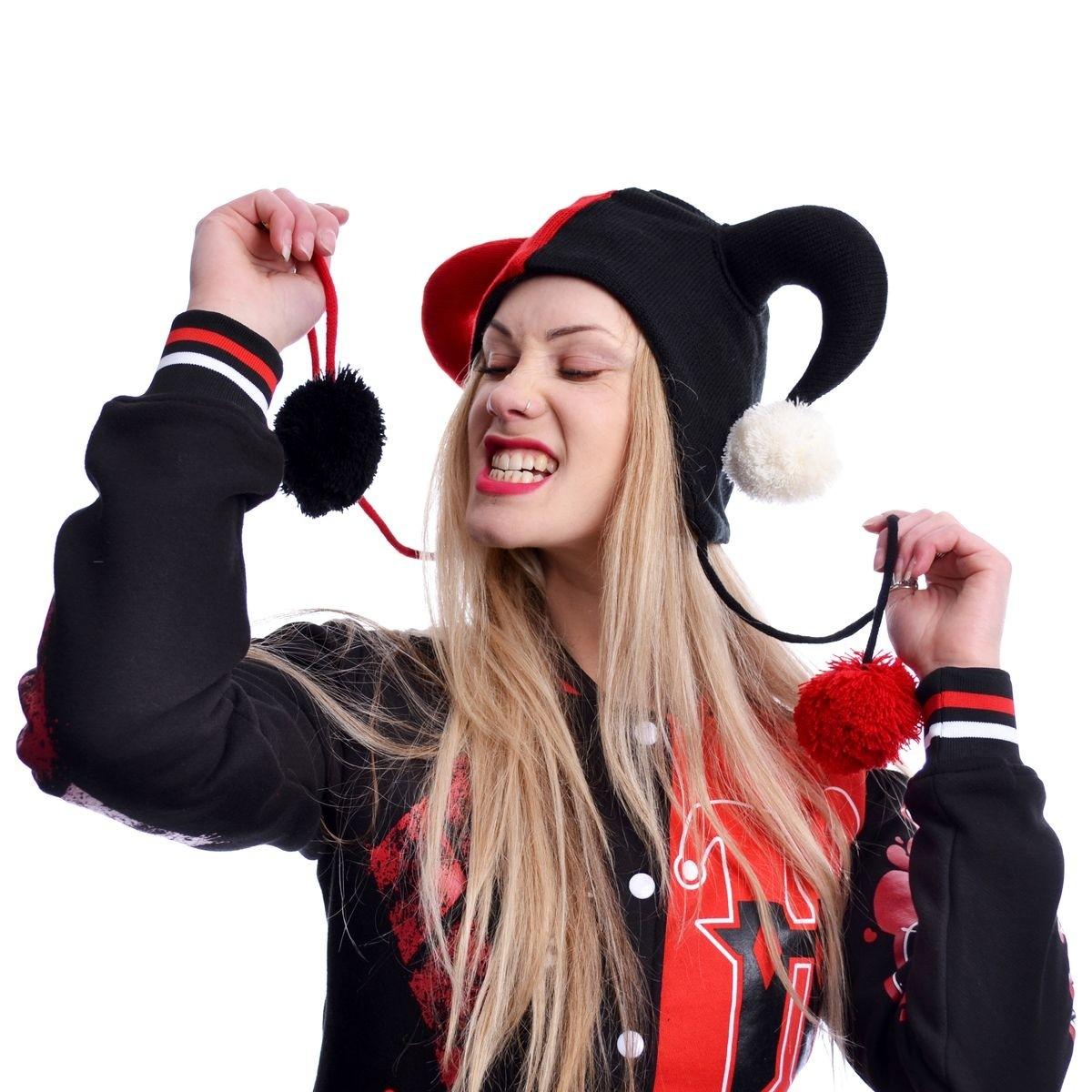 CUPCAKE CULT - JESTER HAT LADIES BLACK/RED *NEW*