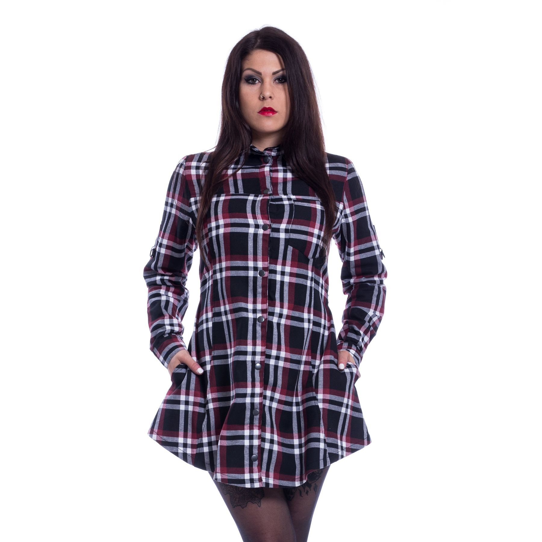HEARTLESS - Karlissa Shirt Ladies Red Check *NEW IN-a*