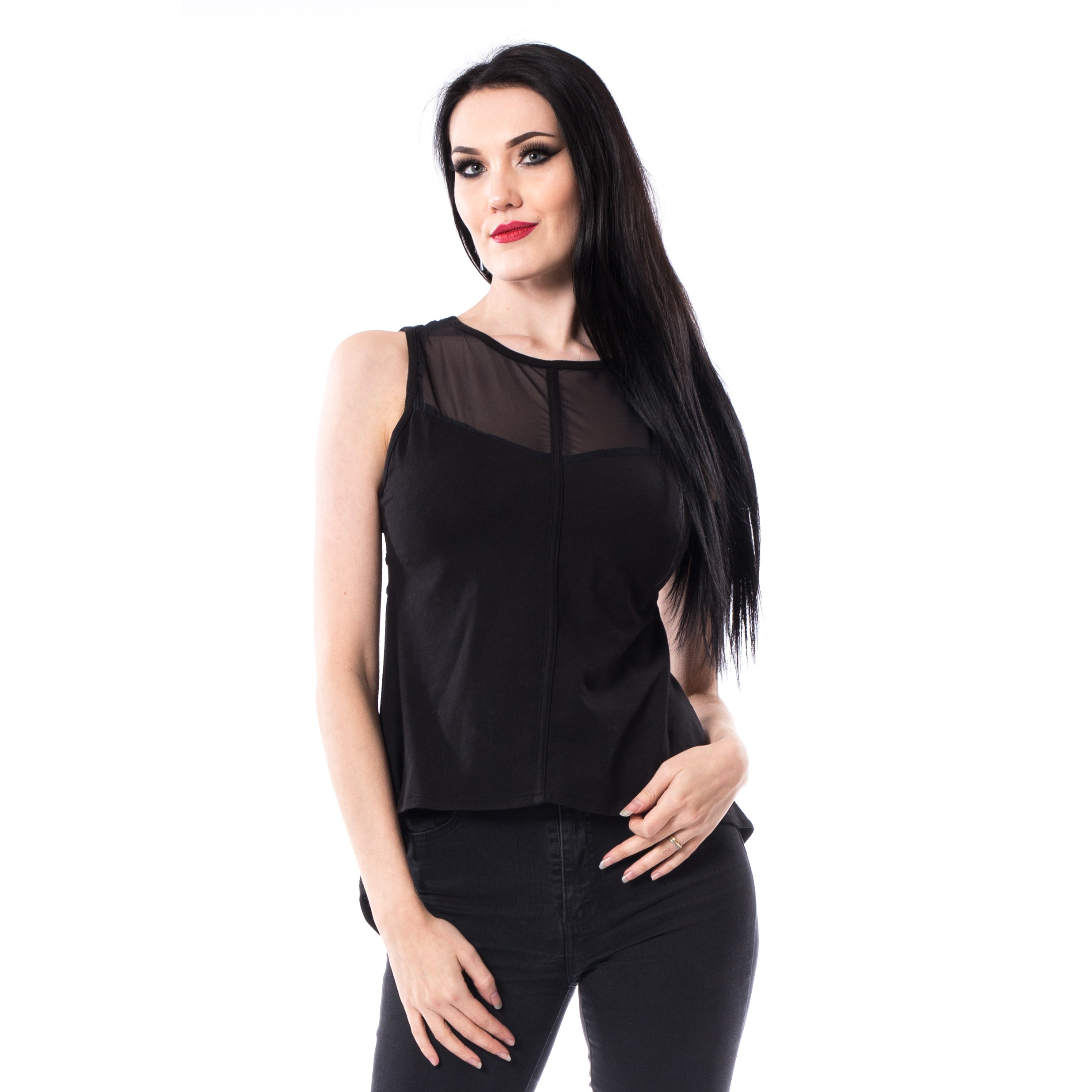 CHEMICAL BLACK - Karolina Top Ladies Black *NEW IN-a*