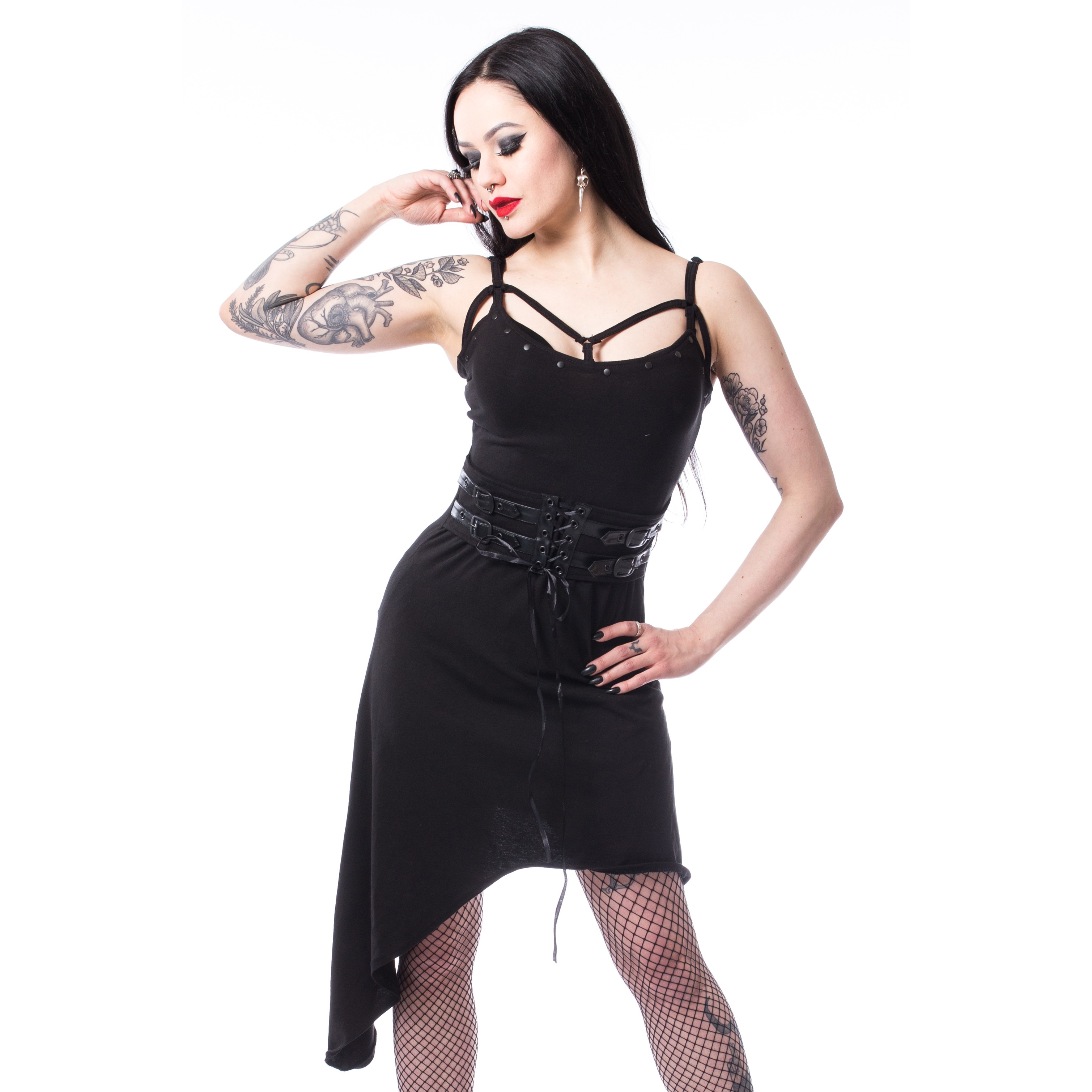 CHEMICAL BLACK - Lina Dress Ladies Black *NEW IN-a*