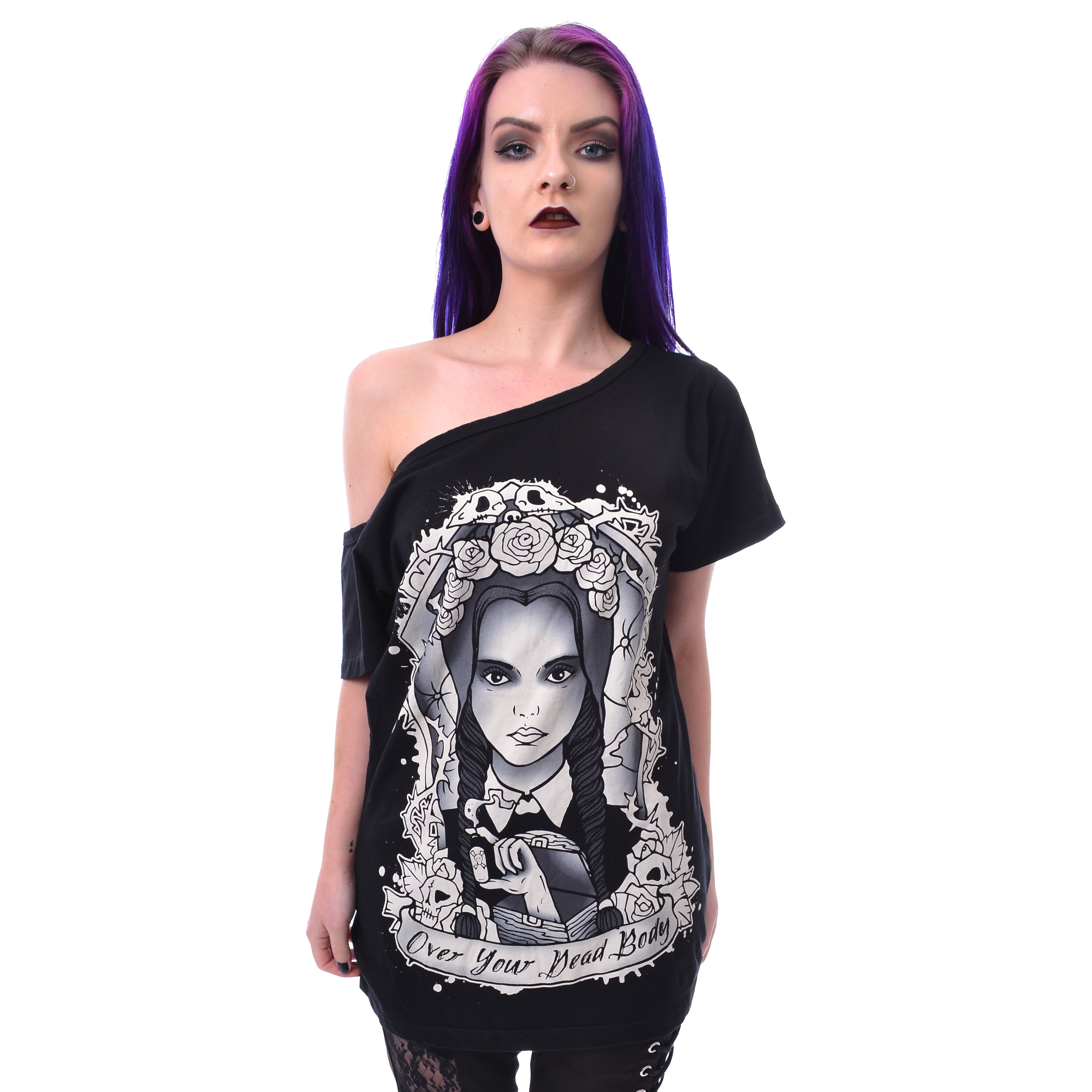 HEARTLESS - OVER YOUR DEAD BODY TOP LADIES BLACK