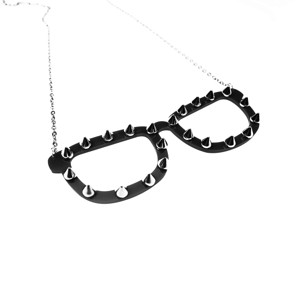 CUPCAKE CULT - SPIKE SHADES NECKLACE LADIES BLACK