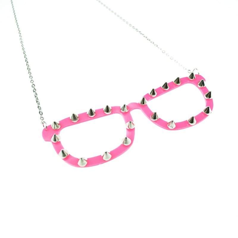 CUPCAKE CULT - SPIKE SHADES NECKLACE LADIES PINK
