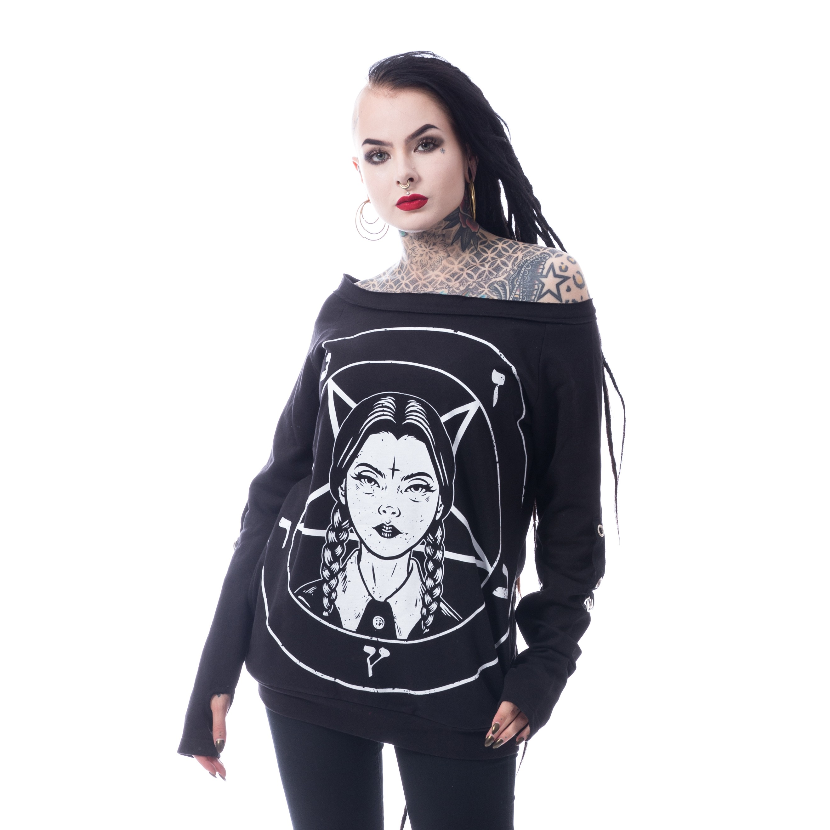 HEARTLESS - Wednesday Occult Top Ladies Black *a1