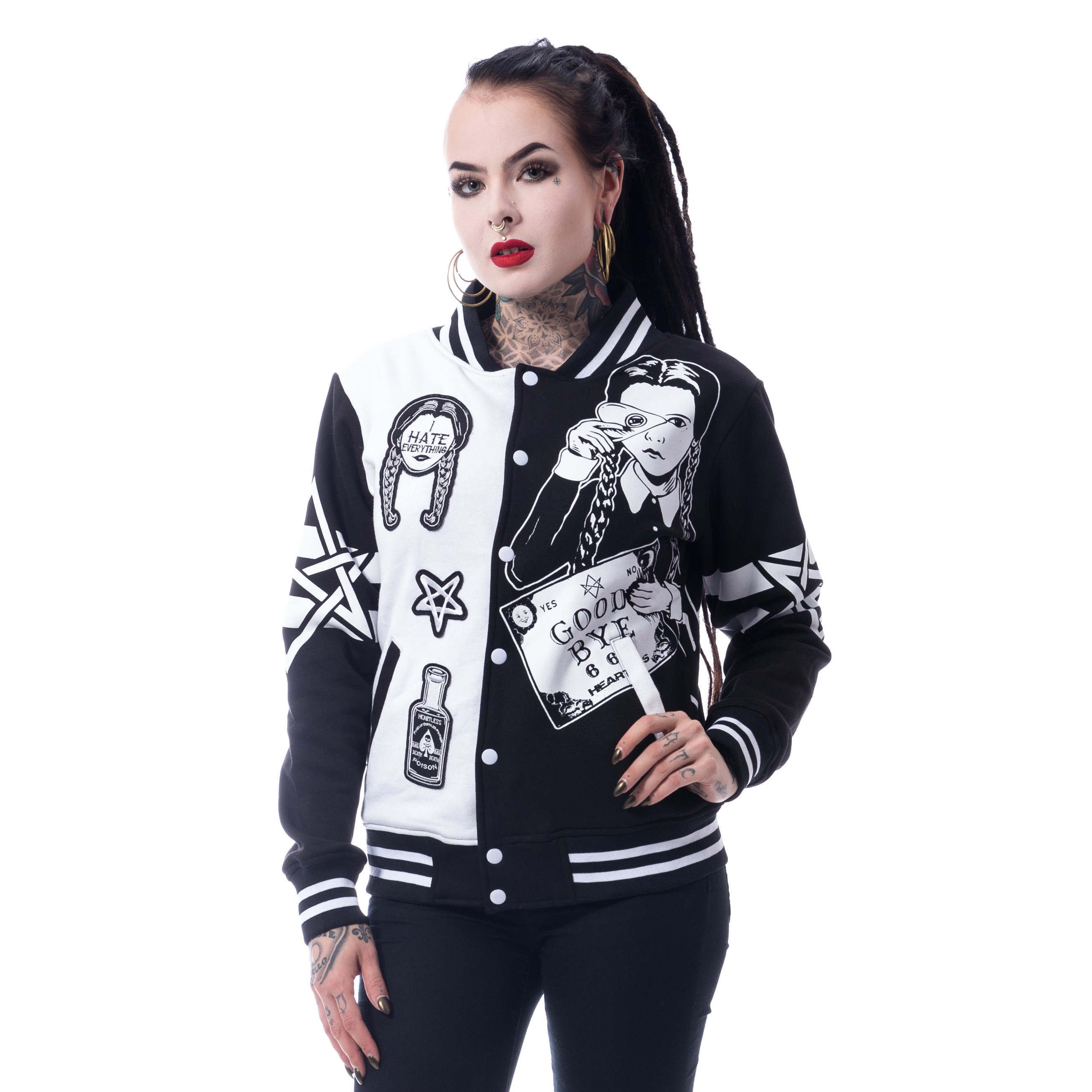 HEARTLESS - Wednesday Varisty Jacket Ladies Black *a1