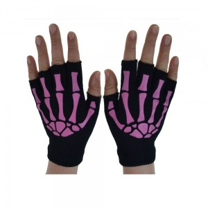 POIZEN INDUSTRIES - BGS FINGERLESS GLOVES LADIES BLACK/PINK