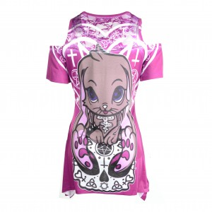 CUPCAKE CULT - OCCULT BUNNY TOP LADIES PINK