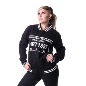 HEARTLESS - METH BRO VARSITY JACKET UNISEX BLACK