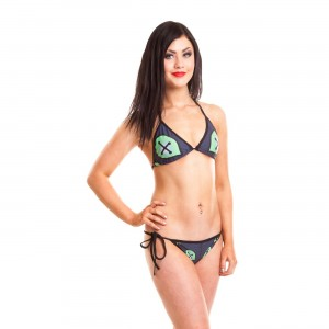 CUPCAKE CULT - VOODOO DRAGON BIKINI LADIES BLACK