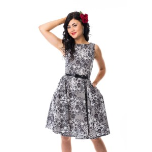 ROCKABELLA - RACHEL DRESS LADIES WHITE