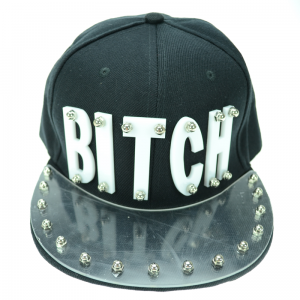 POIZEN INDUSTRIES - BITCH CAP LADIES BLACK/WHITE