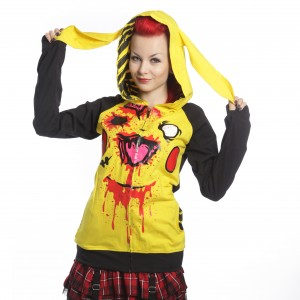 CUPCAKE CULT - CHU CHU HOOD LADIES YELLOW/BLACK