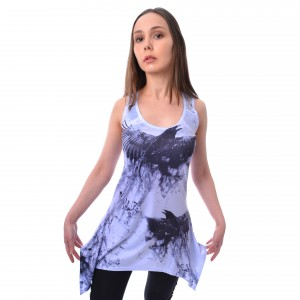 INNOCENT LIFESTYLE - CROW SHADE LACE PANEL VEST LADIES GREY |b|a