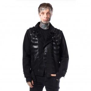HEARTLESS - Fin Jacket Mens Black *NEW IN-a*
