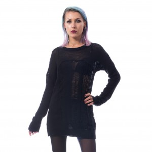 HEARTLESS - Fraction Top Ladies Black *a1
