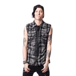 HEARTLESS - FRACTURE SHIRT MENS GREY CHECK