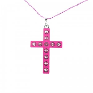 CUPCAKE CULT - GLAM CROSS P1 NECKLACE LADIES PINK