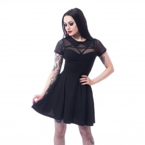 HEARTLESS - Hex Wednesday Dress Ladies Black *a1