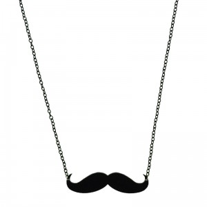POIZEN INDUSTRIES - MOUSTACHE NECKLACE LADIES BLACK