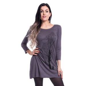 INNOCENT LIFESTYLE - Shadow Tree Top Ladies Grey Size M