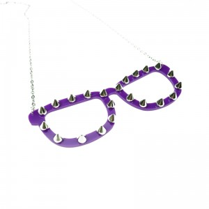 CUPCAKE CULT - SPIKE SHADES NECKLACE LADIES PURPLE