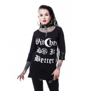 HEARTLESS - WITCHCRAFT TOP LADIES BLACK |b|