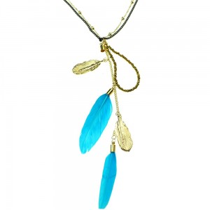 INNOCENT LIFESTYLE - FEATHER NECKLACE (ANFC) LADIES BLUE