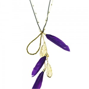INNOCENT LIFESTYLE - FEATHER NECKLACE (ANFC) LADIES PURPLE
