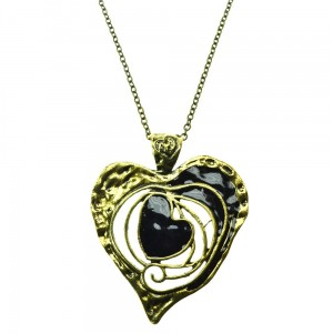 INNOCENT LIFESTYLE - GOLDEN HEART NECKLACE (ANH) LADIES BLACK