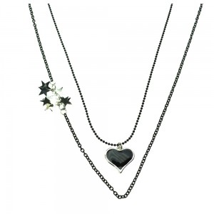 INNOCENT LIFESTYLE - HEART STARS NECKLACE (ANLR) LADIES BLACK