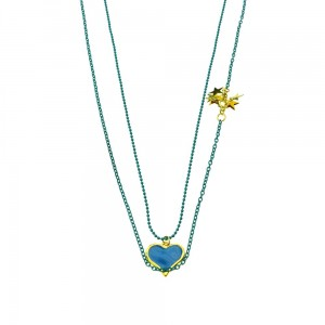 INNOCENT LIFESTYLE - HEART STARS NECKLACE (ANLR) LADIES BLUE