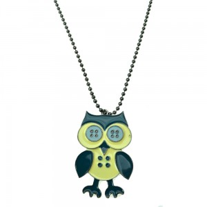 INNOCENT LIFESTYLE - BUTTON OWL NECKLACE (ANMO) LADIES BLUE