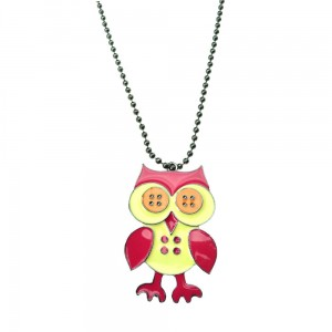 INNOCENT LIFESTYLE - BUTTON OWL NECKLACE (ANMO) LADIES PINK
