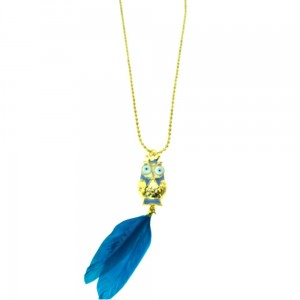 INNOCENT LIFESTYLE - OWL FEATHER NECKLACE (ANOC) LADIES BLUE