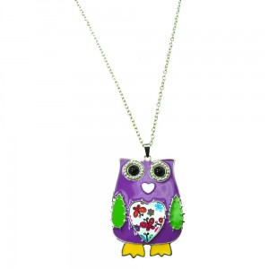 INNOCENT LIFESTYLE - PURPLE OWL NECKLACE (ANPO) LADIES PURPLE